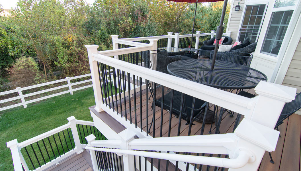 white-banister-brown-deck