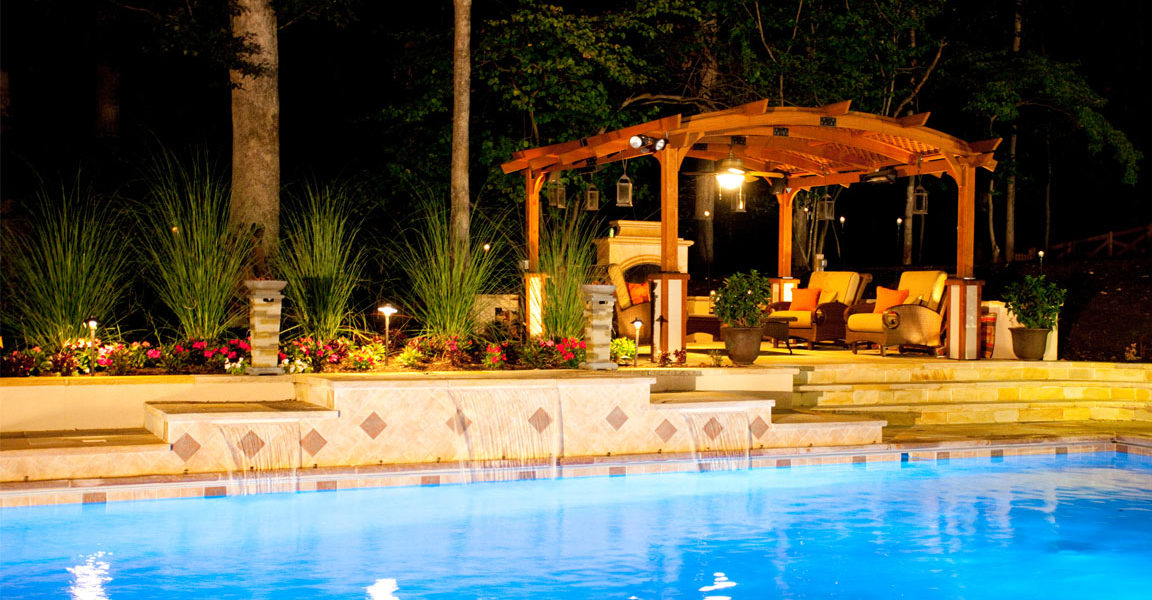 outdoor-lights-and-pool-at-night