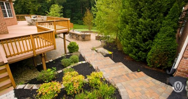 landscaping-on-a-slope-retaining-steps