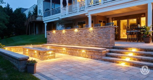 landscaping-on-a-slope-retaining-wall